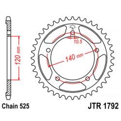 ΓΡΑΝΑΖΙ ΤΡΟΧΟΥ 1792 - 42 ΔΟΝΤΙΑ JT [B]